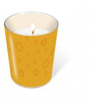 glass candle - Moments uni orange