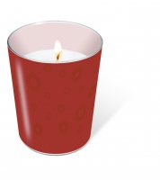 glass candle - Moments uni ruby
