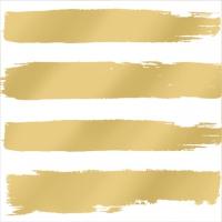 Servietten 25x25 cm - Fashion Stripes gold 25x25cm