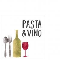 Servietten 25x25 cm - Pasta & Vino Napkin 25x25