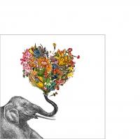 Servietten 25x25 cm - Happy Elephant 25x25 cm