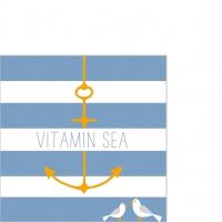 Serviettes 25x25 cm - Beach Vitamin Sea 25x25 cm