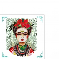 Serviettes 25x25 cm - Frida: Memory the Heart 25x25 cm
