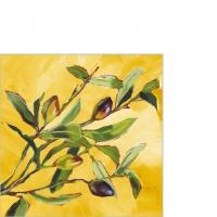 Serviettes 25x25 cm - Olive Musée 25x25 cm