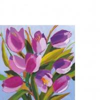 Serviettes 25x25 cm - Tulips Musée 25x25 cm