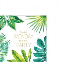 Napkins 25x25 cm - Jungle Less Monday 25x25 cm