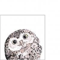 Napkins 25x25 cm - Owl Napkin 25x25