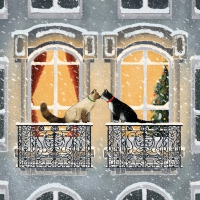 Napkins 25x25 cm - Townhouse Cats Napkin 25x25