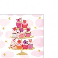 Napkins 25x25 cm - Happy Cupcakes Napkin 25x25