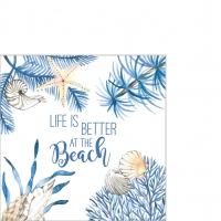 Servilletas 25x25 cm - Ocean Life is better Napkin 25x25