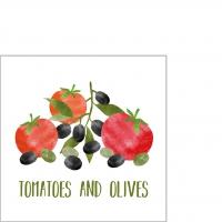 Serwetki 25x25 cm - Tomatoes & Olives Napkin 25x25