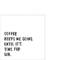 Napkins 25x25 cm - Coffee & Gin Napkin 25x25