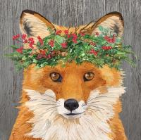 Servilletas 25x25 cm - Winter Berry Fox Napkin 25x25
