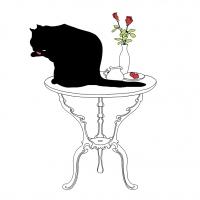 Serviettes 33x33 cm - Black Cat Bath