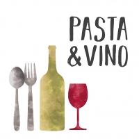 Napkins 33x33 cm - Pasta & Vino 33x33 cm