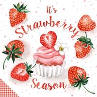 Serviettes 33x33 cm - Strawberry Season 33x33 cm