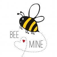 Serviettes 33x33 cm - Bee Mine 33 x 33 cm