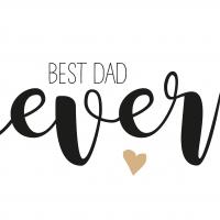 Servietten 33x33 cm - Best Dad Ever 33x33 cm
