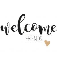 Servietten 33x33 cm - Welcome friends 33x33 cm