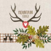 Napkins 33x33 cm - Mountain Lodge beige Napkin 33x33