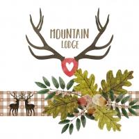 Napkins 33x33 cm - Mountain Lodge Napkin 33x33