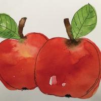 Servilletas 33x33 cm - Two Apples Napkin 33x33