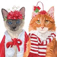Servilletas 33x33 cm - Festive Felines Napkin 33x33
