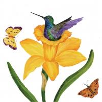 Servietten 33x33 cm - Daffodil Nest Napkin 33x33