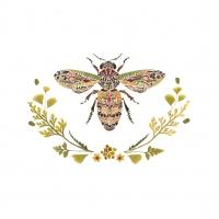 Servilletas 33x33 cm - Green Bee Napkin 33x33