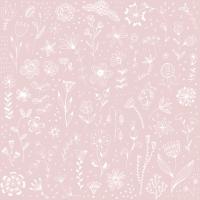 Servilletas 33x33 cm - Pure Flower rosé Napkin 33x33