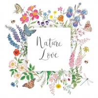 Servietten 33x33 cm - Nature Love Napkin 33x33