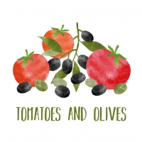 Serwetki 33x33 cm - Tomatoes & Olives Napkin 33x33