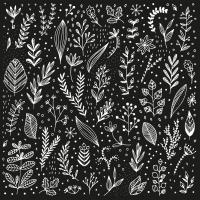 Napkins 33x33 cm - Pure Leaflet black Napkin 33x33