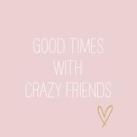 Napkins 33x33 cm - Crazy Friends rosè Napkin 33x33