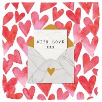 Servietten 33x33 cm - Love Letter Napkin 33x33