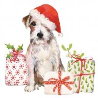 Serwetki 25x25 cm - Christmas Pup Napkin 25x25