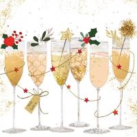 Servietten 25x25 cm - Champagne glasses 25x25 cm