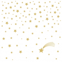 Servietten 25x25 cm - Shooting Star white gold 25x25 cm