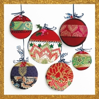 Servilletas 25x25 cm - Christmas Ornaments Napkin 25x25