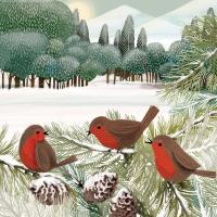 Servietten 25x25 cm - Meadow Birds Napkin 25x25