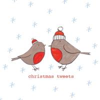 Napkins 25x25 cm - Christmas Tweets Napkin 25x25