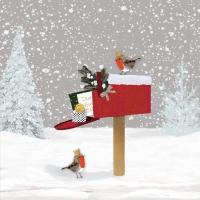 Servietten 25x25 cm - Winter Mail Napkin 25x25