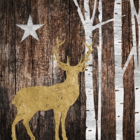 Servilletas 33x33 cm - Mystic Deer on wood