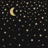 Napkins 33x33 cm - Moonlight black gold 33x33 cm