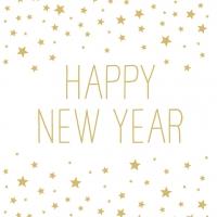 Napkins 33x33 cm - Happy New Year white 33x33 cm