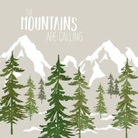 Napkins 33x33 cm - Adventure Mountains t