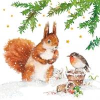 Servietten 33x33 cm - Squirrel & Robin Napkin 33x33