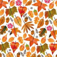 Servietten 33x33 cm - Autumn Leaves Napkin 33x33