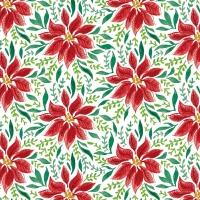 Napkins 33x33 cm - Poinsettia Dream Napkin 33x33