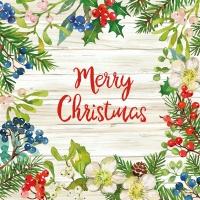 Servilletas 33x33 cm - Merry Christmas Napkin 33x33